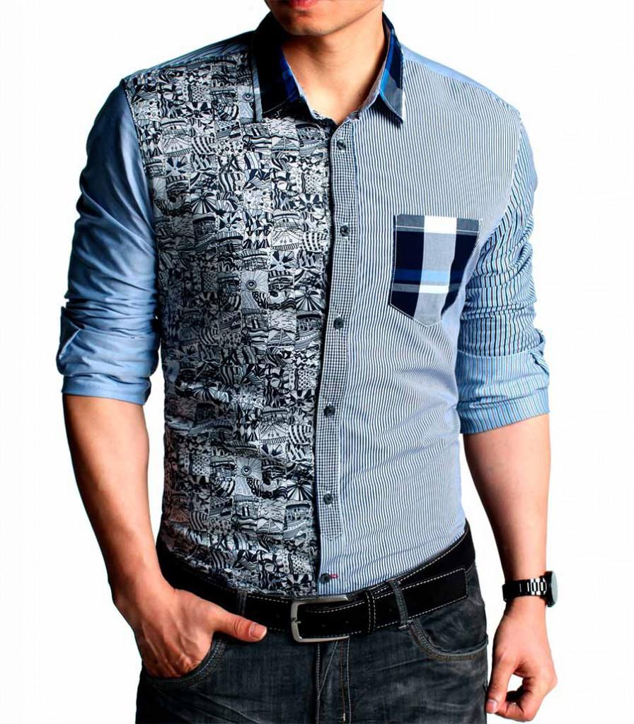 Модная мужская рубашка с коротким рукавом