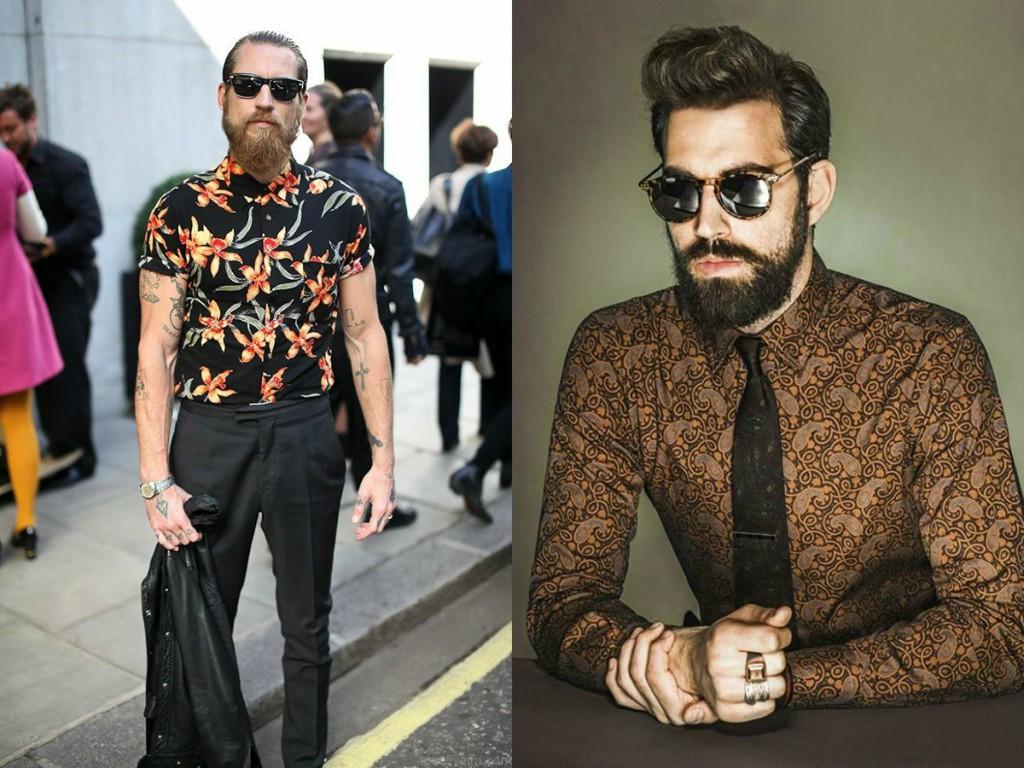 Модные мужские рубашки с принтом