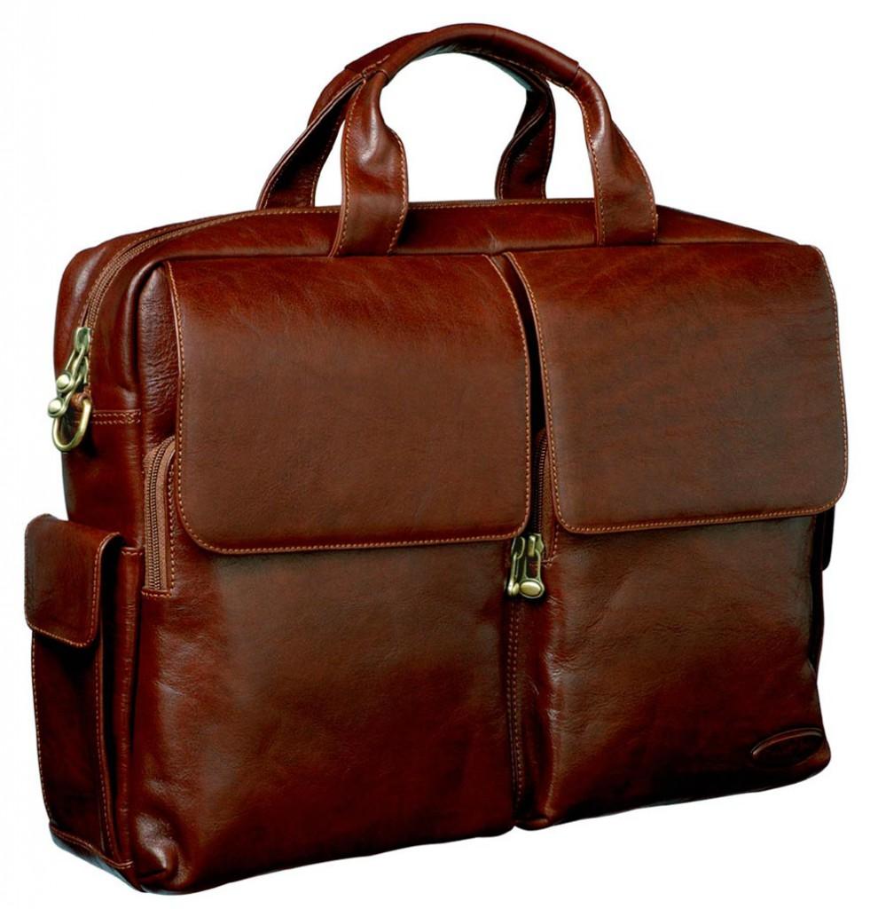 Мужской темно-коричневый портфель
