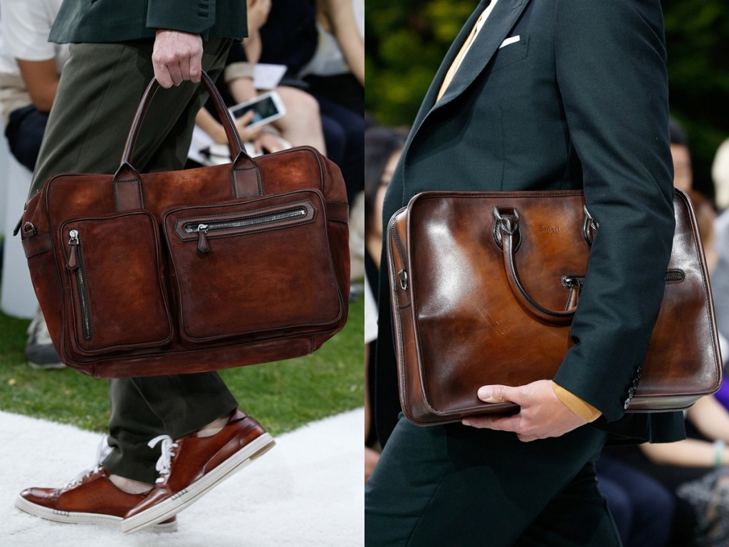 Стильная кожаная мужская сумка
