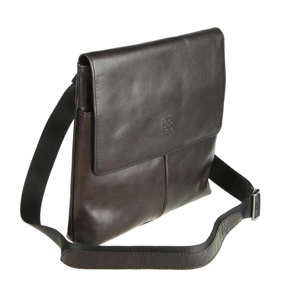 Мужская черная сумка планшет