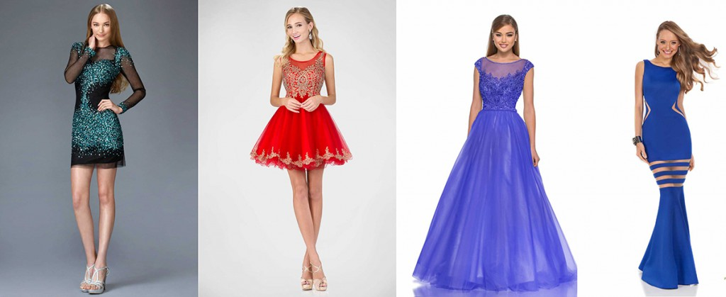 Модные вечерние платья различной длины