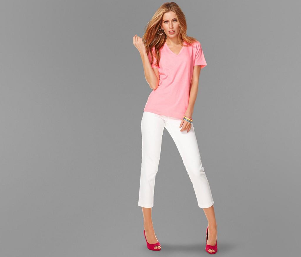 Модные белые бриджи