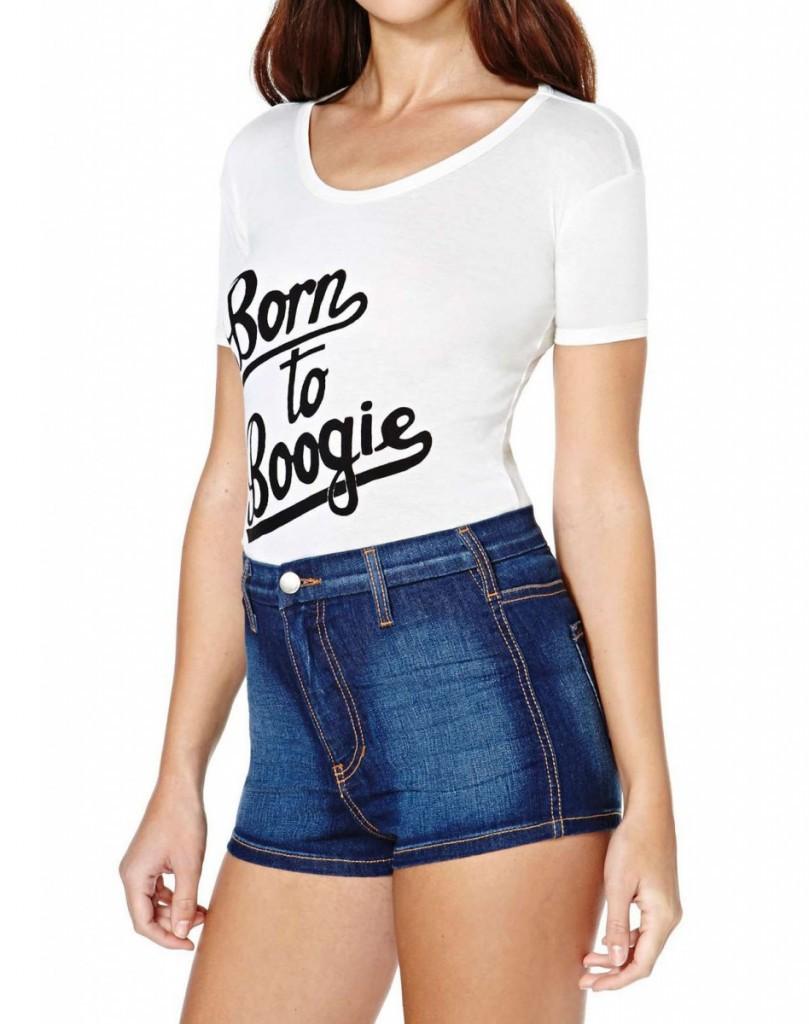 Обтягивающая футболка с надписью