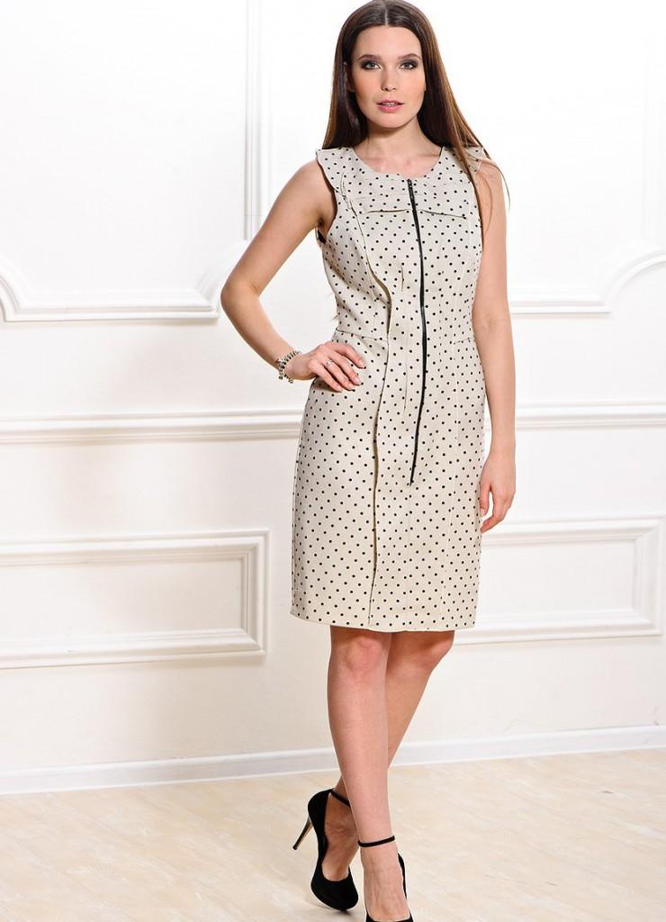 Платье в горошек для женщин за 40