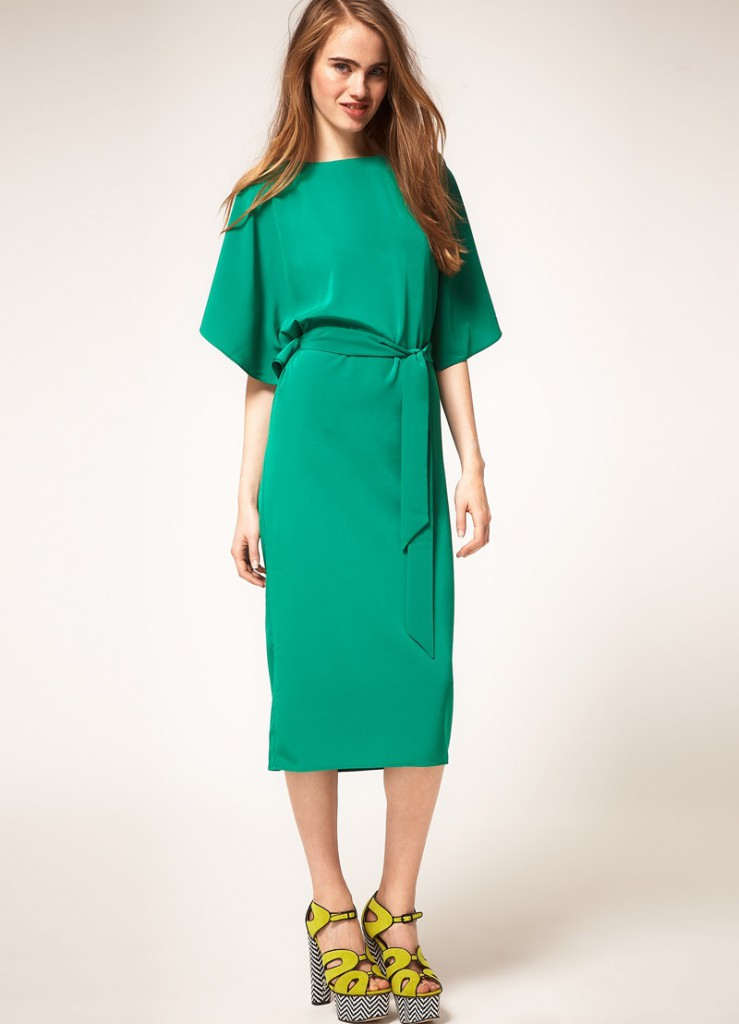 Green dress for women over 40