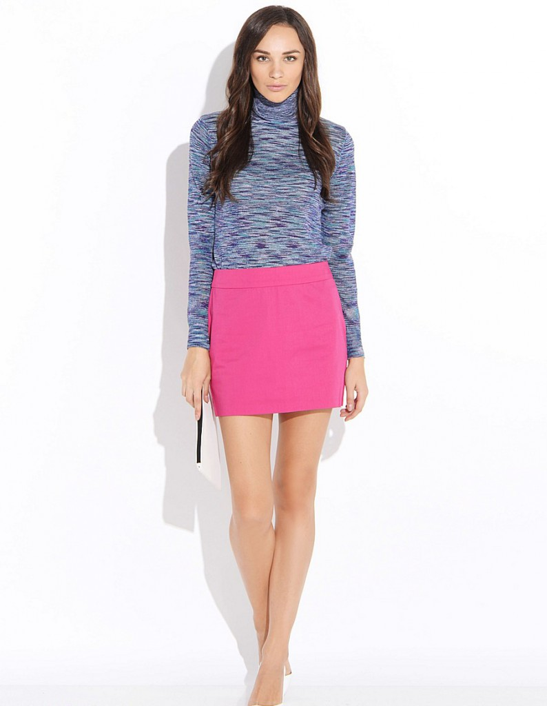 Розовая мини юбка