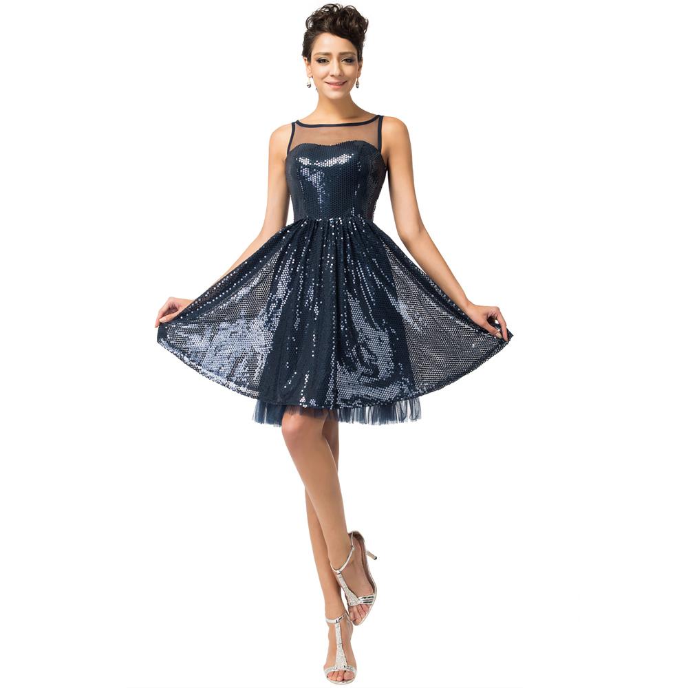 Блестящие Платья Черные Вечерние в Пол и Короткие Свадебные с Блестками, Фасоны из Ткани Блестящий Трикотаж