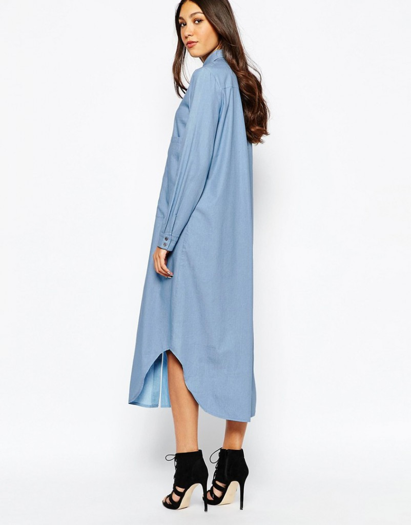 Джинсовое платье оверсайз
