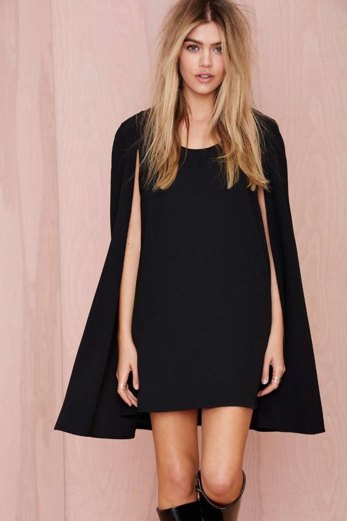 Черное платье накидка оверсайз
