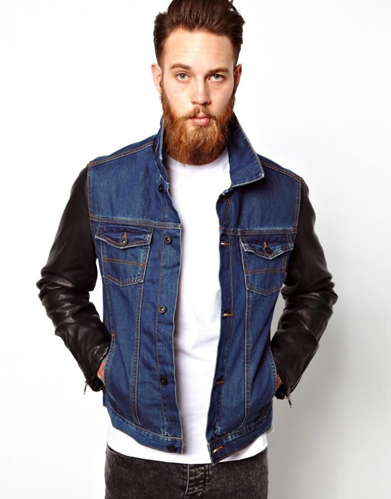 Модная джинсовая мужская куртка