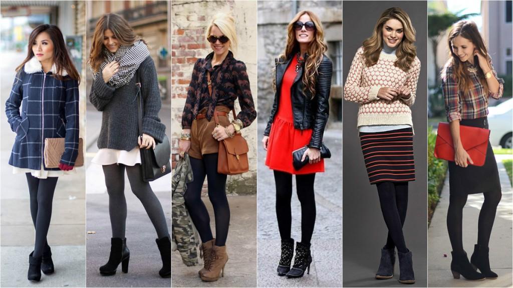Модные зимние колготки