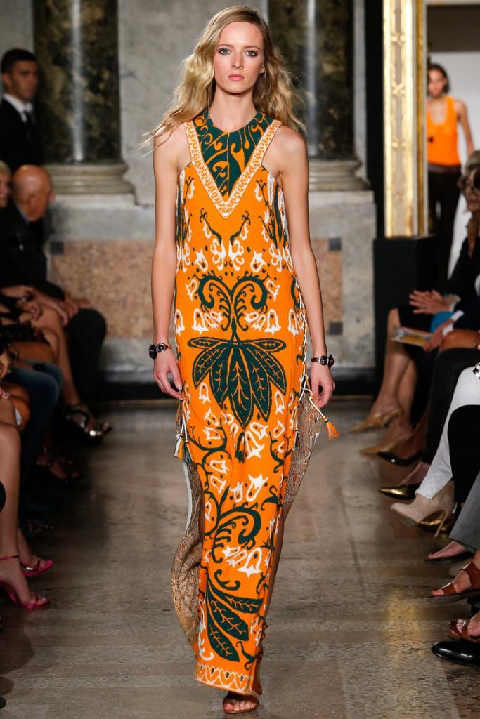 Необычное яркое платье в этническом стиле