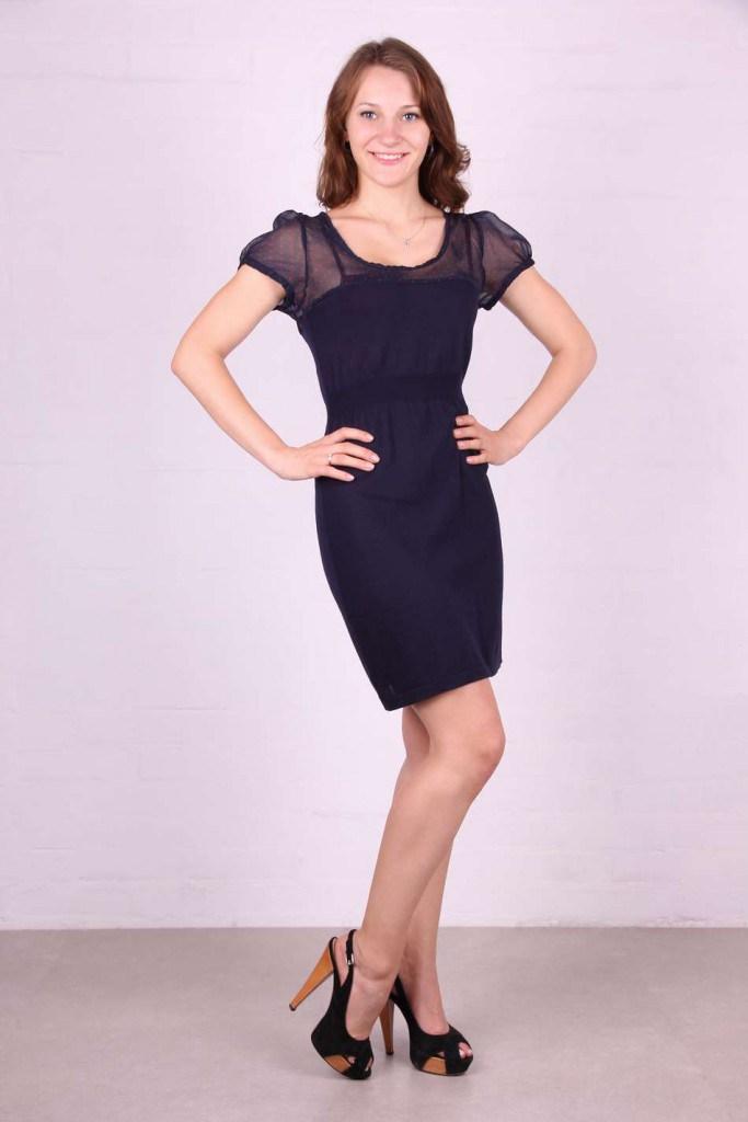 Черное платье во французском стиле