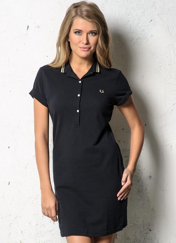 Спортивно-классическое женское черное платье