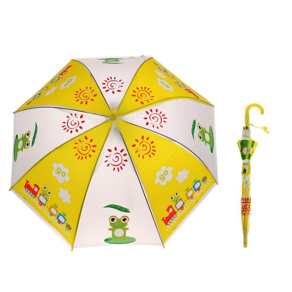 Модный детский зонтик с лягушатами