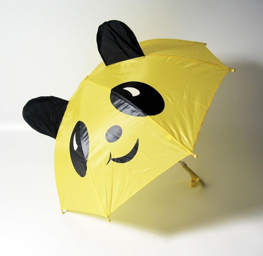 Детский желтый зонтик медвежонок