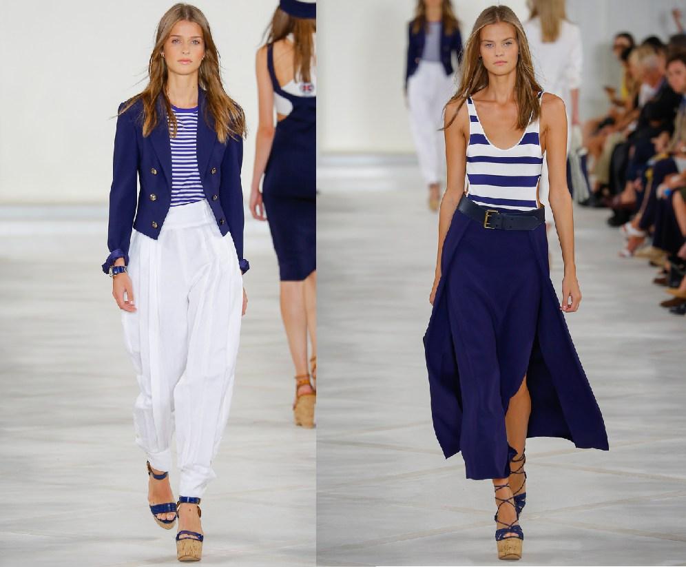 Женские комплеты одежды в морском стиле