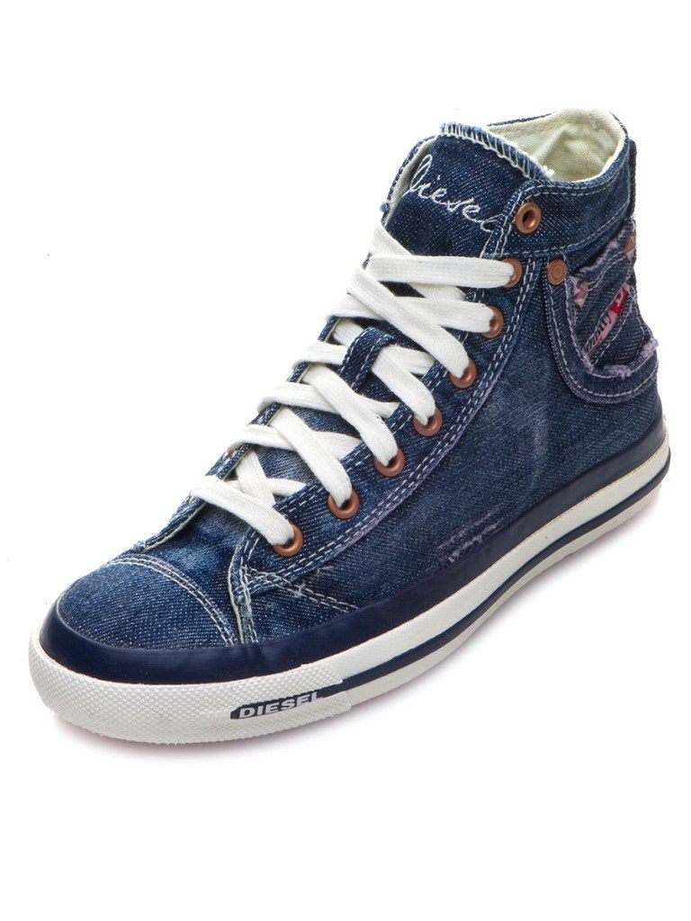 Мужские синие джинсовые ботинки