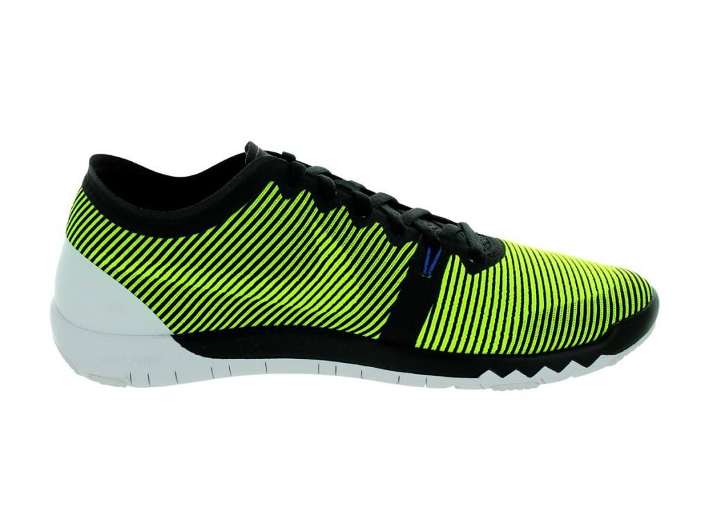 Мужские черно-зеленые кроссовки для тренажерного зала