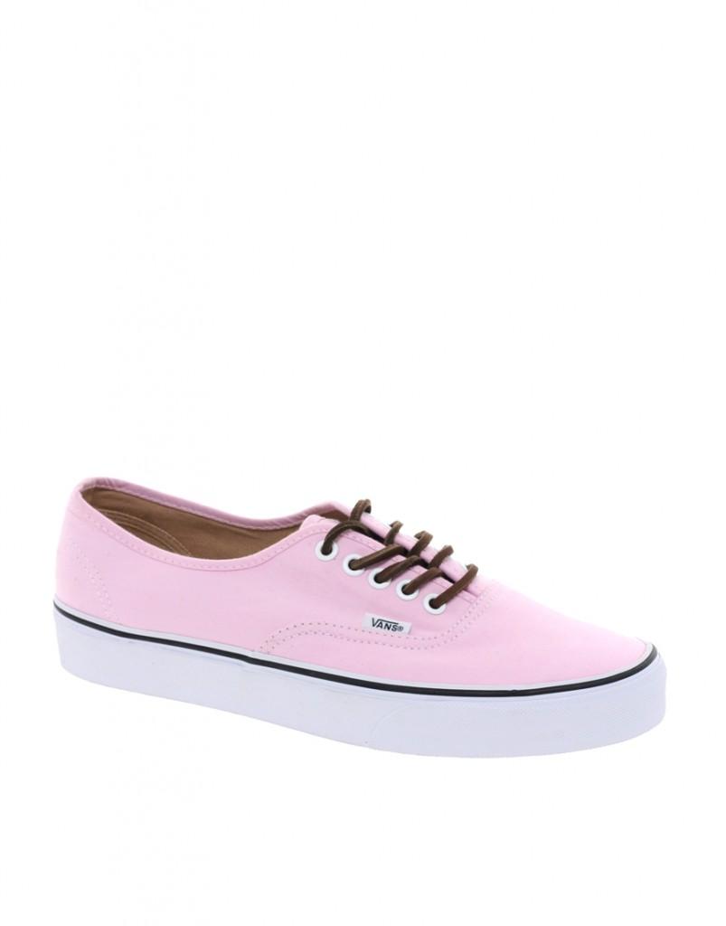 Модные розовые вансы