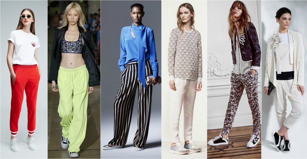 Женские образы с модными кроссовками