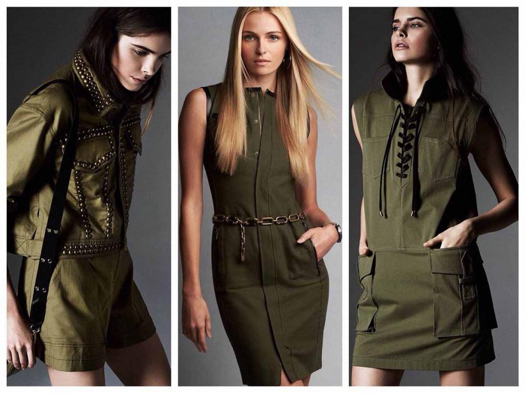Платья в стиле милитари