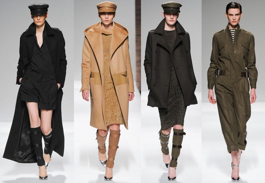 Пальто разных цветов в стиле милитари