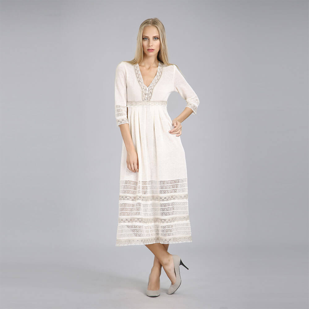 Платье из льна длинное купить