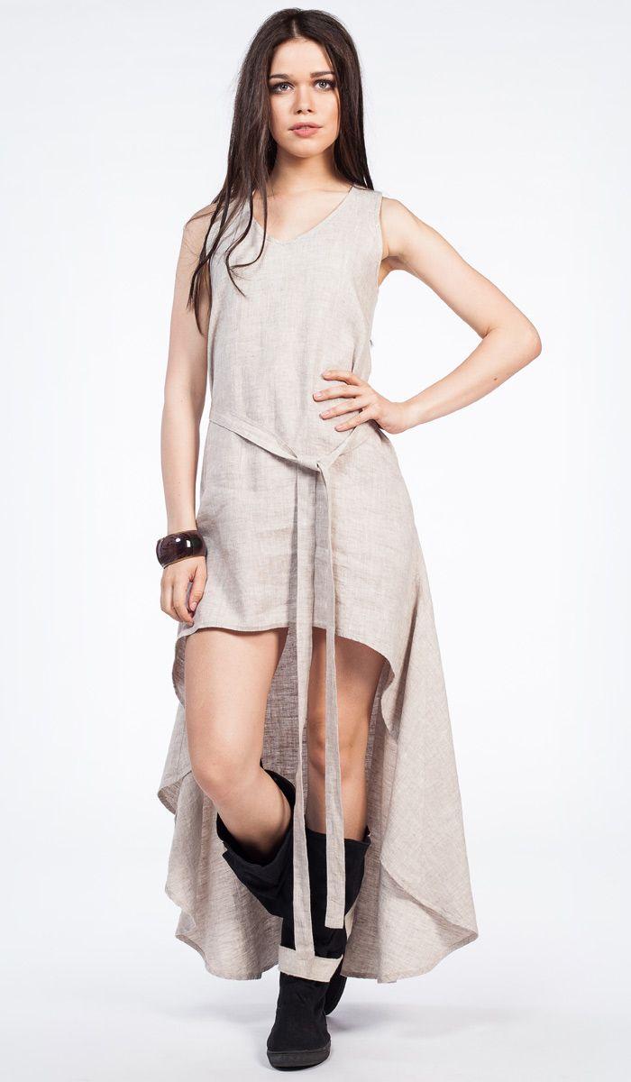 Платья из льна с кружевом 160