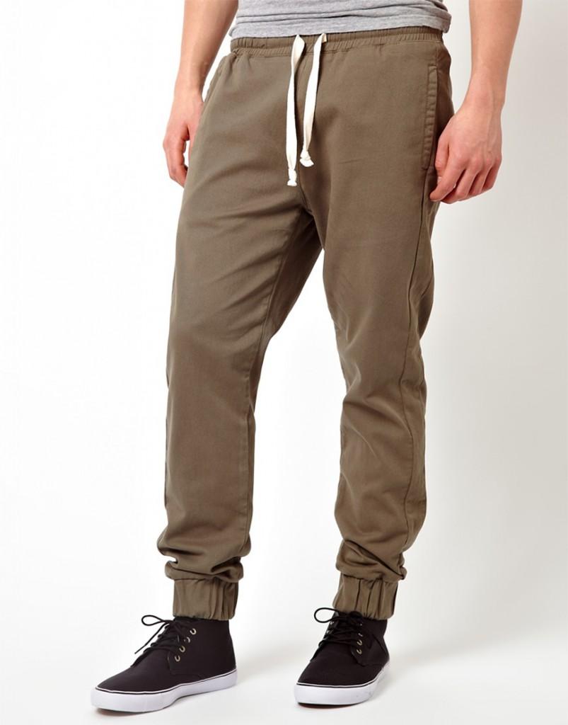 Стильные спортивные мужские коричневые брюки