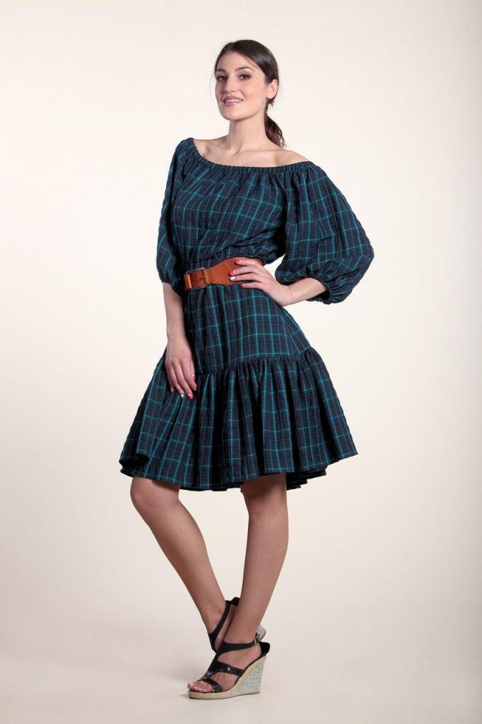 Питаленное платье в стиле кантри