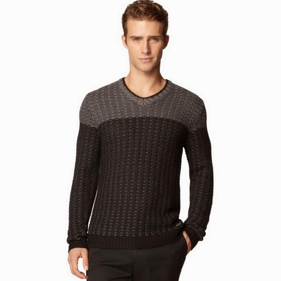 Мужской свитер в минималистичном стиле