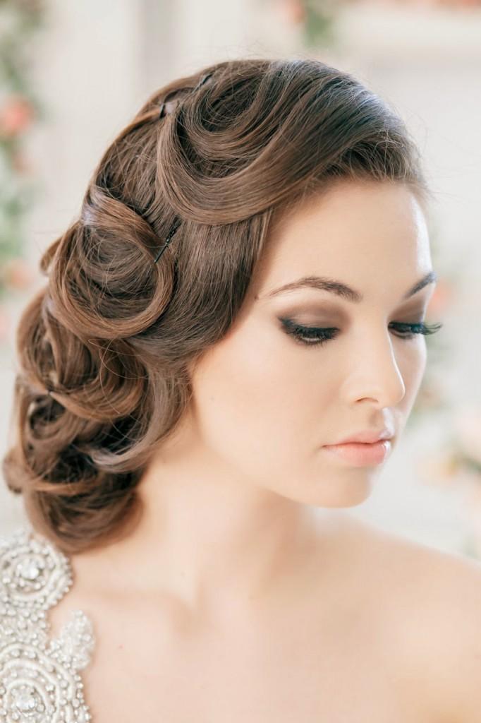 Свадебная прическа в стиле нью лук