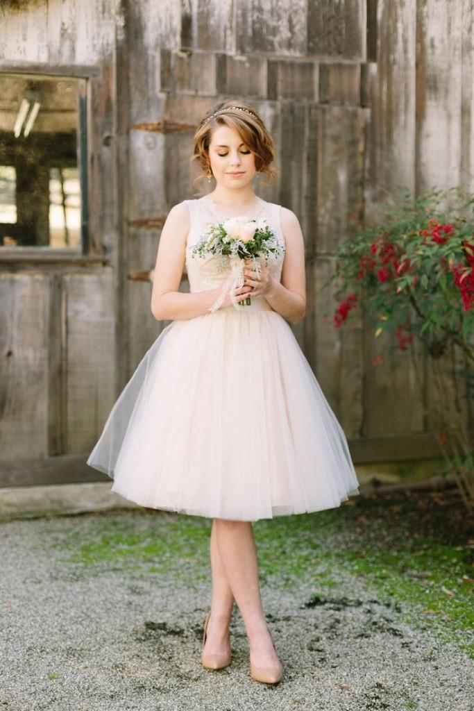 Красивое свадебное платье в стиле нью лук