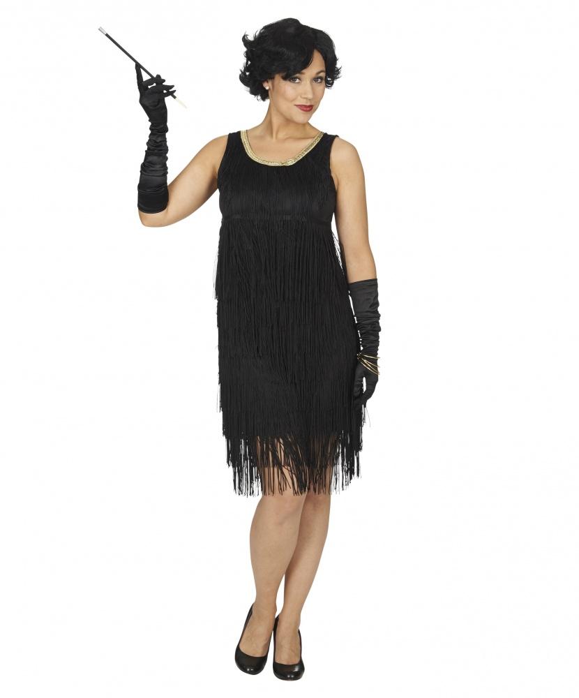 Черное платье в гангстерском стиле