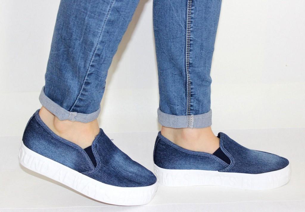 С чем носить женскую джинсовую обувь