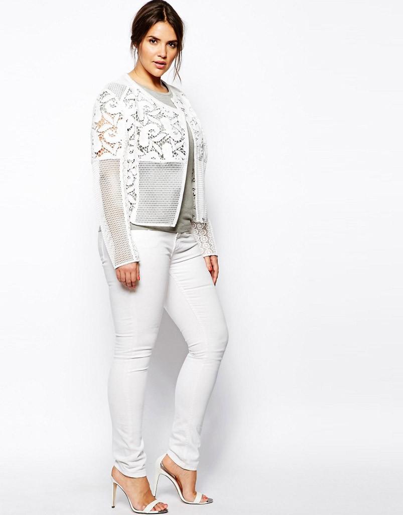 Белые брюки для полных женщин после 40 лет