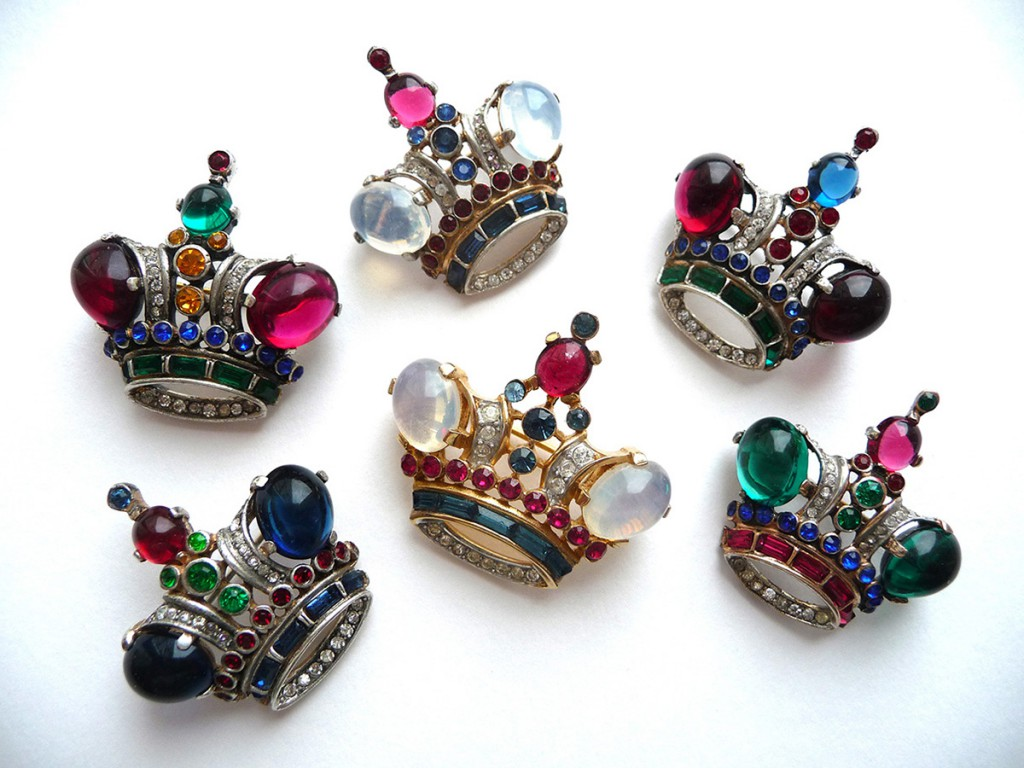 Винтажные кольца короны