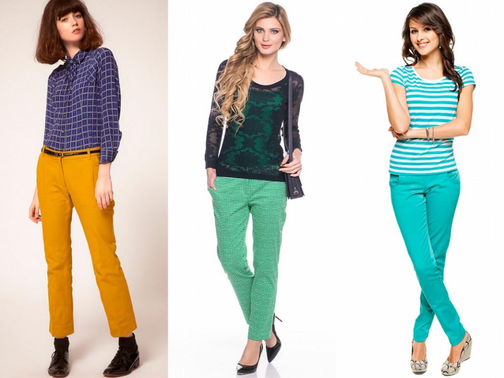 С чем носить женские брюки слаксы