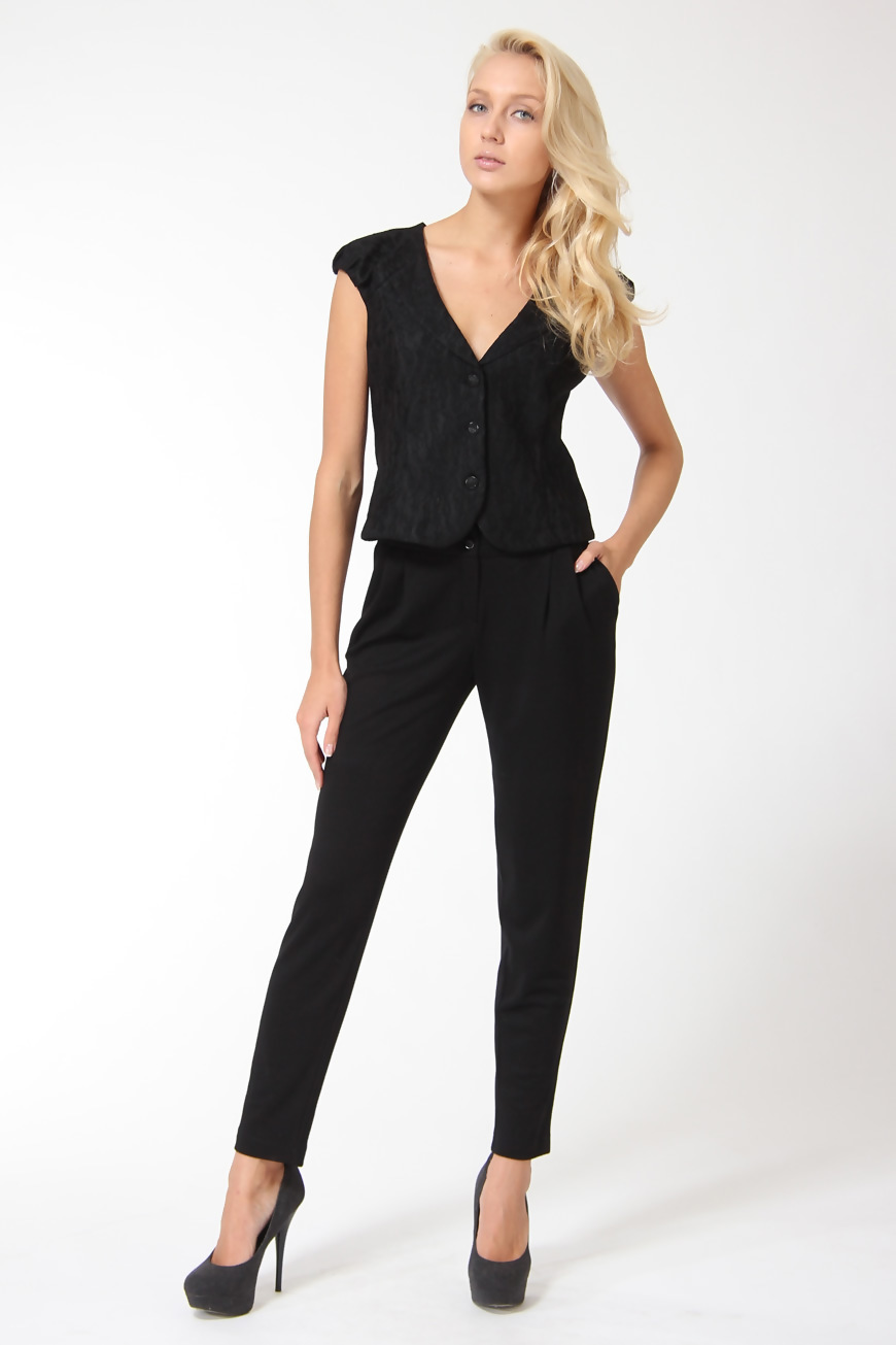 Черные классические брюки женские