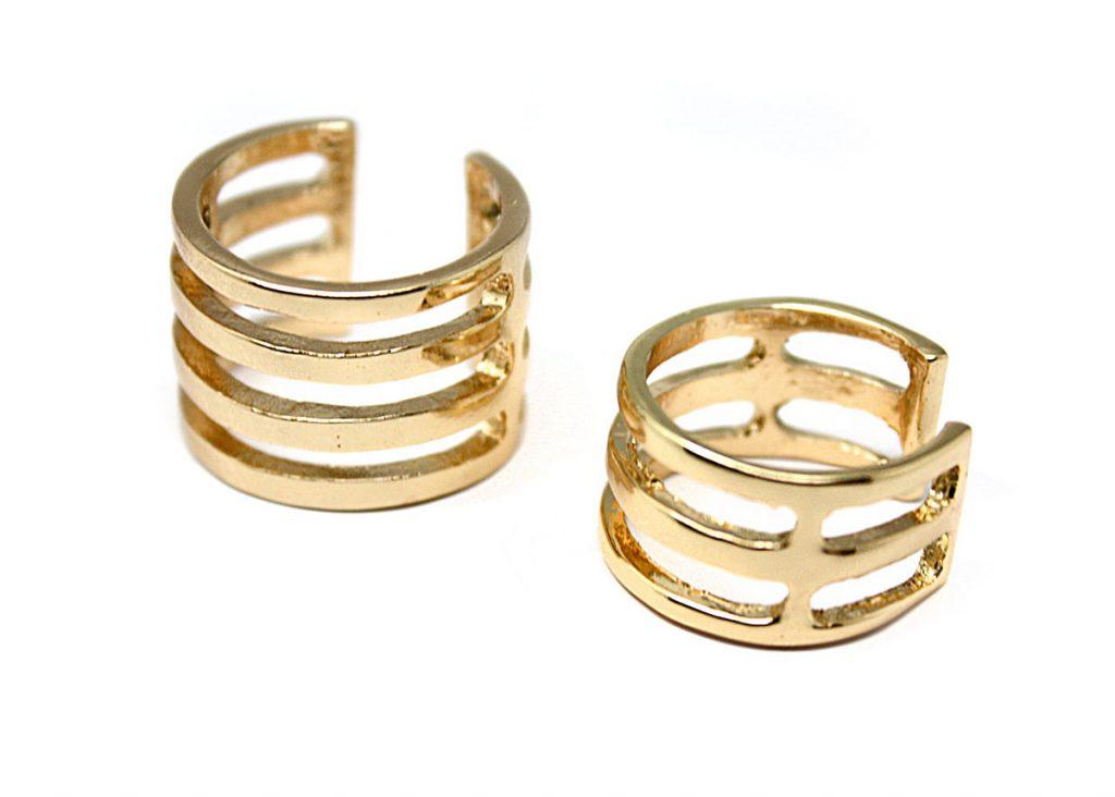 Позолоченные кольца на фаланги пальцев