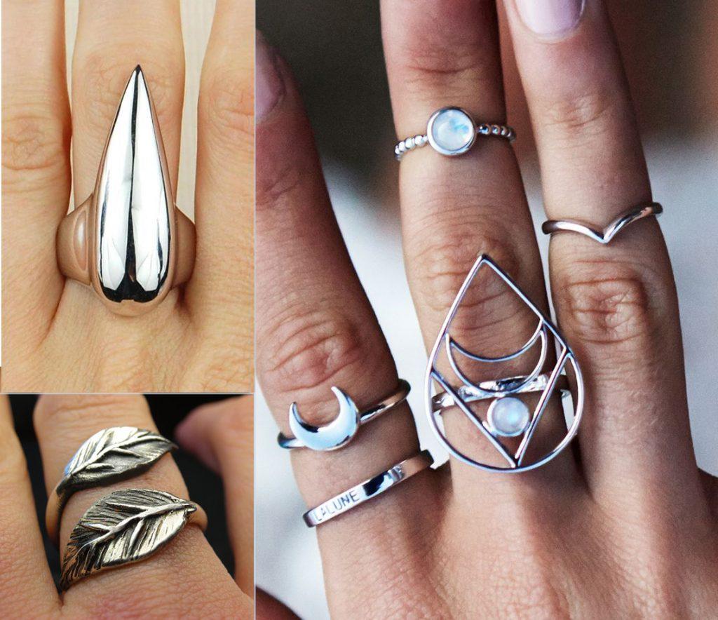 Дизайнерские кольца на фаланги пальцев