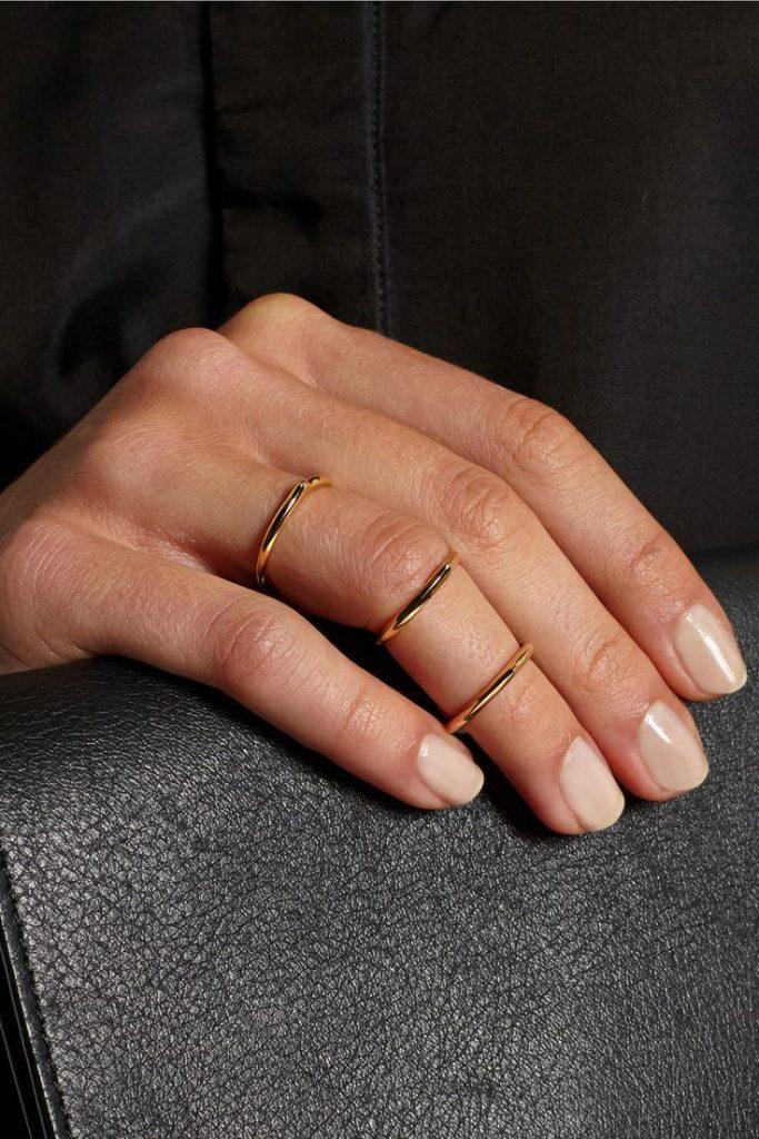 Три кольца на фаланги пальца