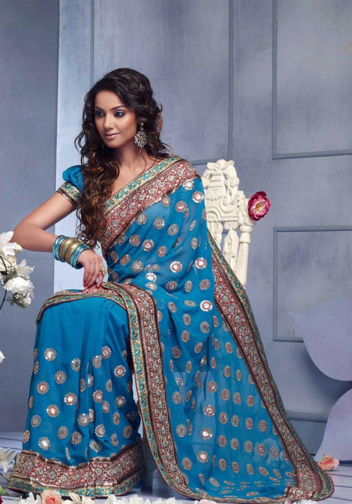 Модное индийское сари
