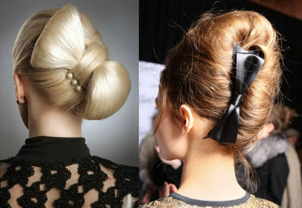 Ракушка-бант на волосах