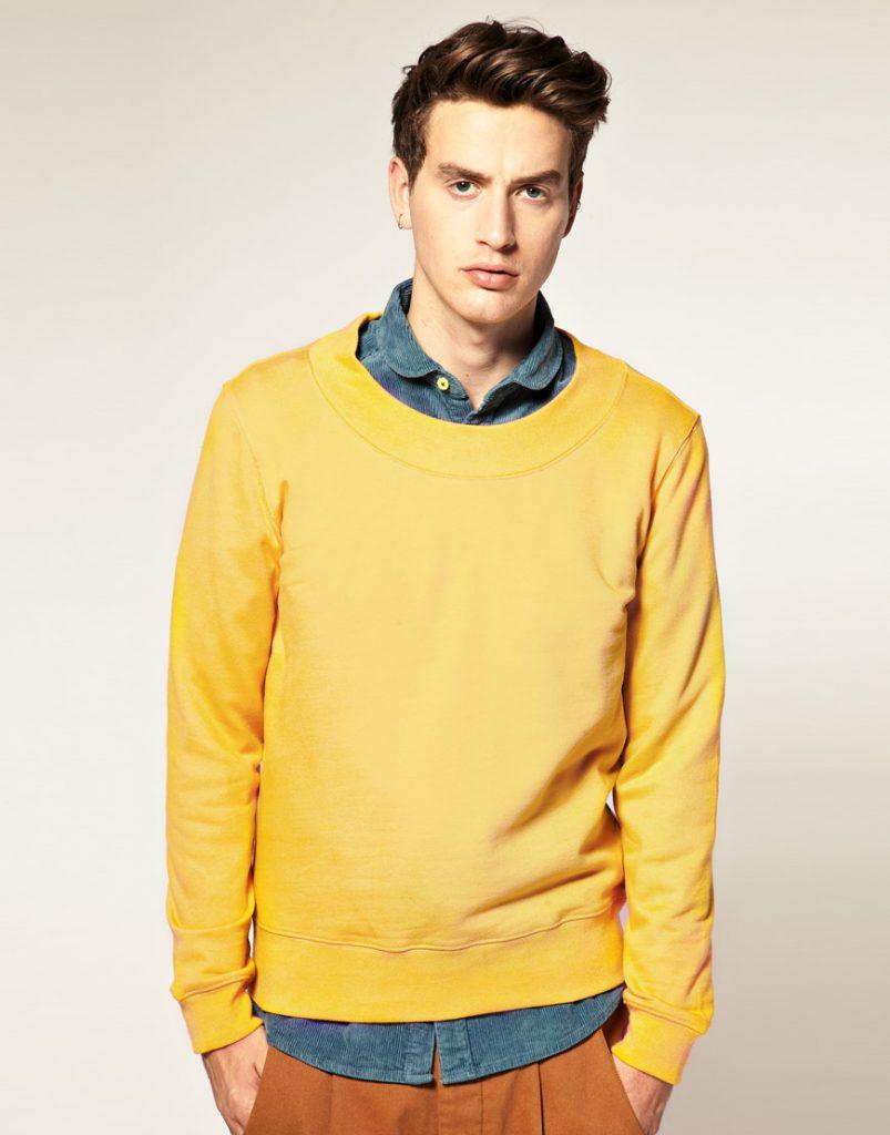 Желтый мужской свитер