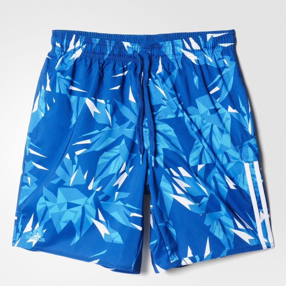 Сине-белые мужские шорты