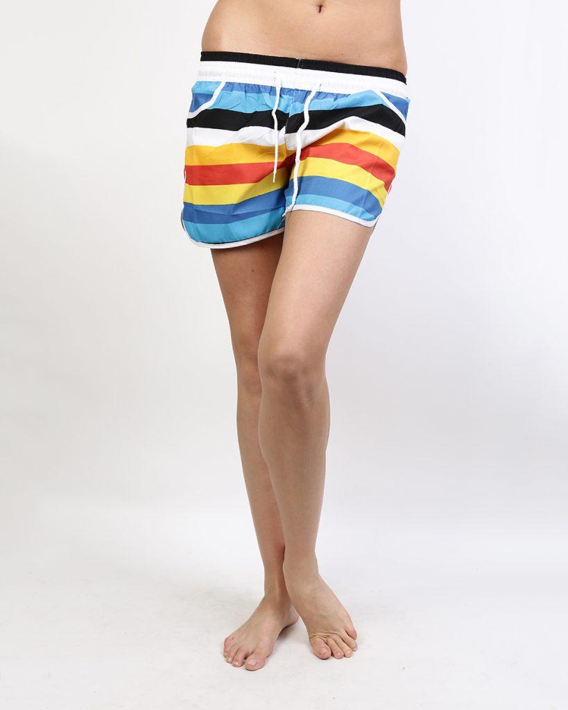 Полосатые пляжные женские шорты