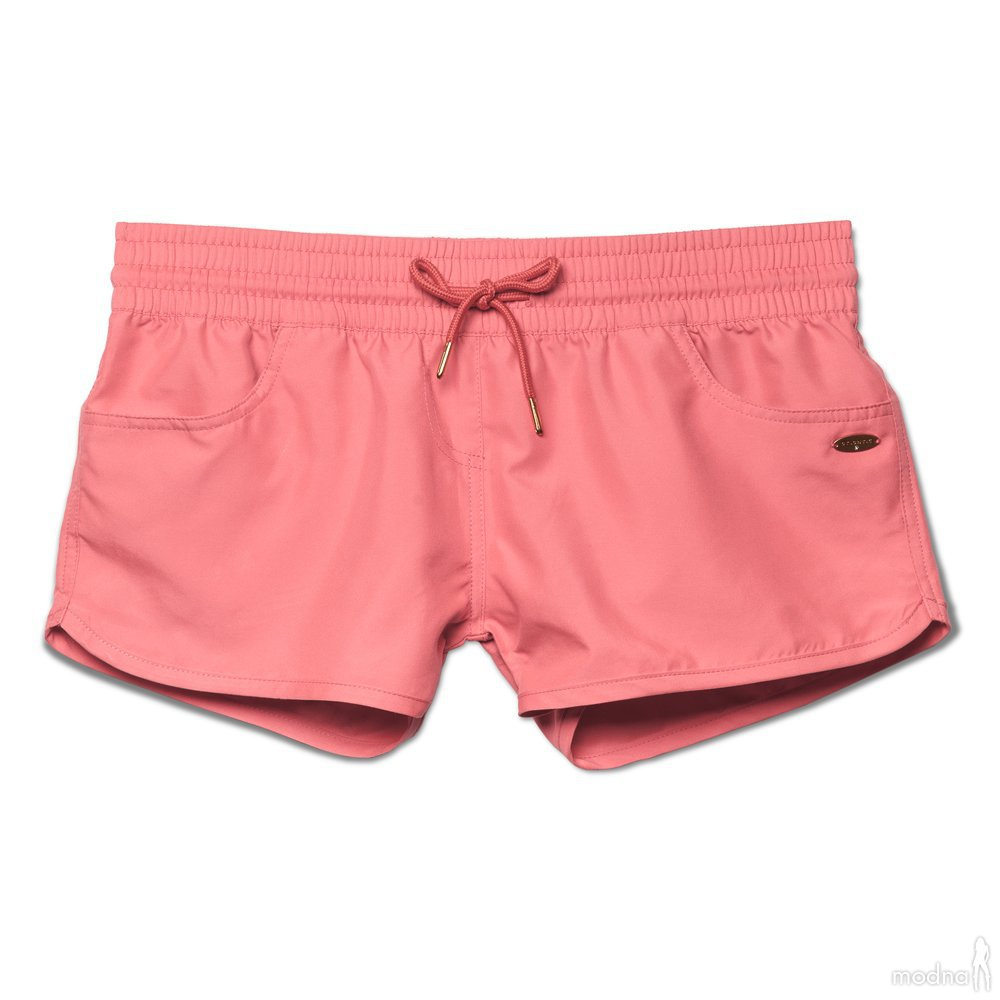 Розовые пляжные женские шорты